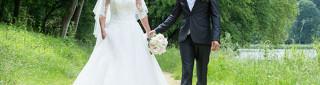 Mariage sur fond boisé
